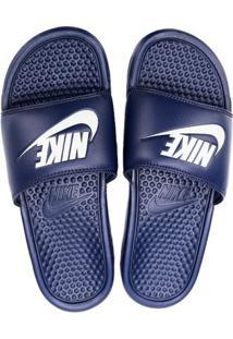 Sandália Nike Benassi Jdi Masculina - Masculino-Marinho+Branco