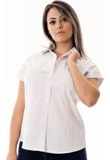 Camisa Pimenta Rosada Laura - Feminino-Branco