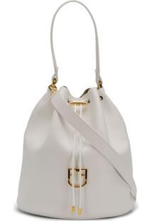 Furla Bolsa Bucket Com Cordão De Ajuste - Branco