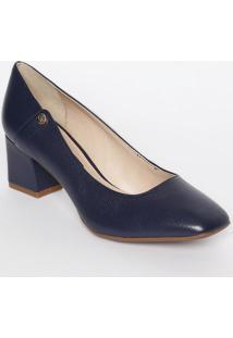 f656cf62ca Privalia. Sapato Tradicional Em Couro Com Recortes- Azul Marinho