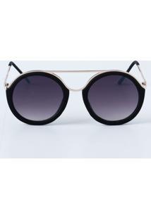 Óculos Feminino De Sol Redondo Fosco Marisa
