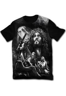 Camiseta Manga Curta Stompy Tattoo 66 Preto