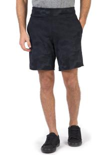 Bermuda Jogger Camuflada Preto