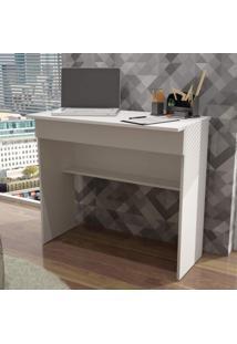 Escrivaninha 1 Gaveta Bho 21 Office Brv Móveis Branco