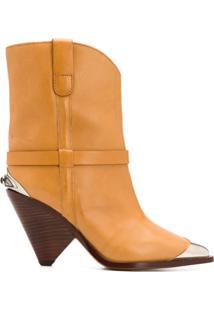 Isabel Marant Ankle Boot Bico Fino - Neutro