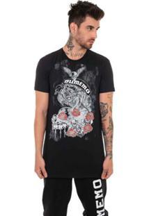 Camiseta Sumemo Catrina Com Rosas Masculina - Masculino