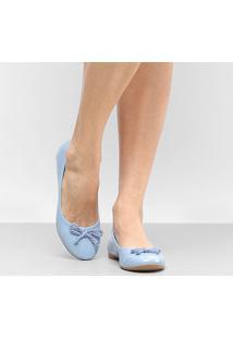 Sapatilha Drezzup Laço Trançado Feminino - Feminino-Azul Claro