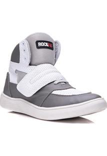 Tênis Cano Alto Rockfit U2 Em Couro Masculino - Masculino
