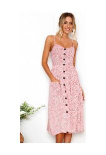 Vestido Martinelli Feminino - Branco Com Flores Rosas