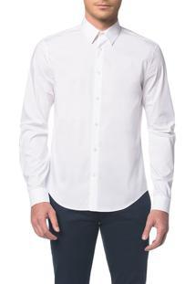 Camisa Calvin Klein Extra Slim Simples Branco 2 - 5