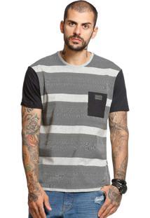 Camiseta Manga Curta Vlcs 18708 Cinza