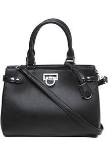 Bolsa Santa Lolla Handbag Recortes Feminina - Feminino-Preto