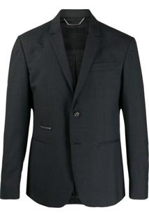 Philipp Plein Formal Single Breasted Blazer - Cinza