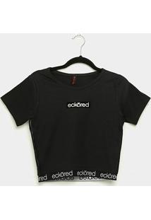 Camiseta Cropped Ecko Especial Feminina - Feminino-Preto