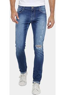 Calça Jeans Skinny Forum Igor Indigo Masculina - Masculino