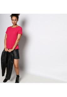 Blusa Texturizada Com Pregas - Pink - Malweemalwee
