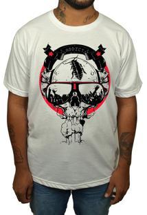 Camiseta Hshop Caveira Trash - Branco