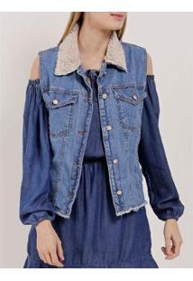 Colete Jeans Feminino - Feminino