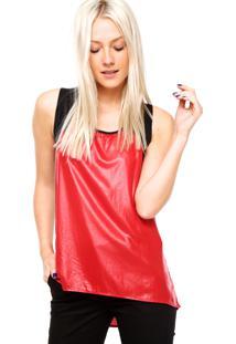 Regata Calvin Klein Jeans Recortes Vermelha
