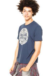 Camiseta Cavalera Estampas Azul