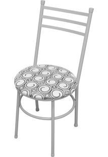 Cadeira Vittoria Branco/Espiral Açomix