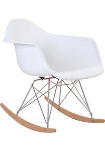 Cadeira De Balanço Com Braço Pp Eiffel -Rivatti - Branco