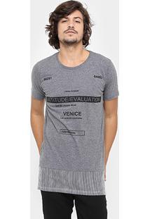 Camiseta Local Gola Careca Long Recorte - Masculino-Mescla