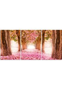 Quadro Decorativo Para Sala Arvore Cerejeira Rosa - Multicolorido - Dafiti