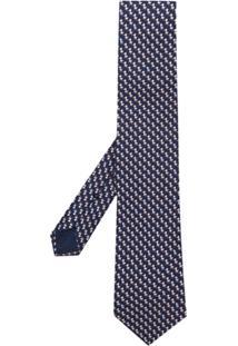 Salvatore Ferragamo Gravata Com Estampa De Pato - Azul