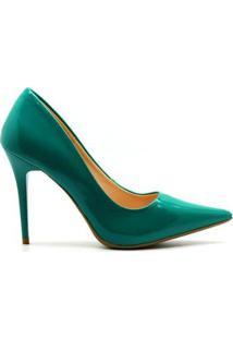 Scarpin Royalz Verniz Penélope Feminina - Feminino-Verde