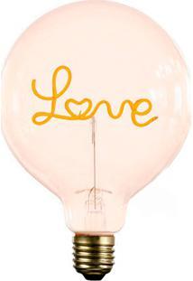 Lâmpada Decorativa Para Abajur Love Luz Amarela