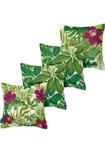 Kit Com 4 Capas Para Almofadas Floral Armonizzi