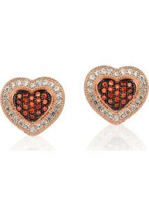 Brinco Le Diamond Coração Vermelho