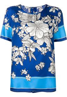 P.A.R.O.S.H. Blusa Com Estampa Floral - Azul