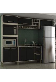 Cozinha Completa 4 Peças 7 Portas Vitória Siena Móveis
