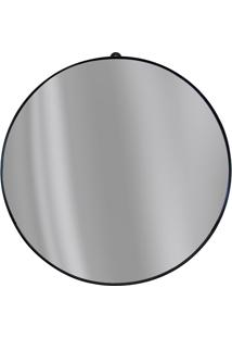 Espelho Redondo Com Borda Em Metal 40Cm Preto