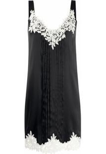 Blumarine Vestido Reto De Crochê - Preto