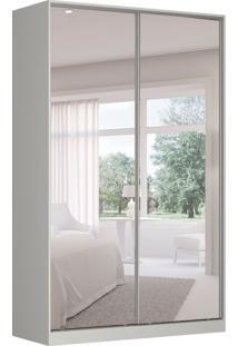 Guarda-Roupa Solteiro Com Espelho Tunas Vi 2 Pt 3 Gv Branco