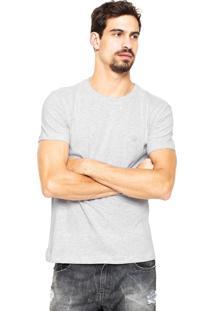 Camiseta Polo Wear Logo Cinza