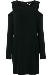 Helmut Lang Vestido Com Recorte No Ombro - Preto