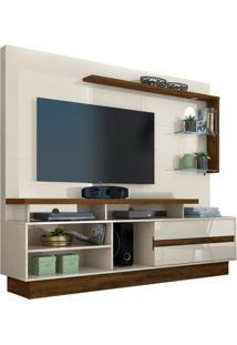 "Estante Home Vicente Para Tvs De Até 60"" Off White / Savana"