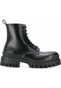 Balenciaga Ankle Boot Militar - Preto