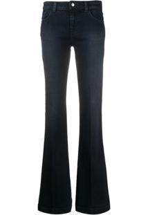 Emporio Armani Calça Jeans Bootcut Cintura Média - Azul