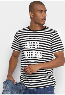 Camiseta Forum Listrada Masculina - Masculino-Preto+Branco