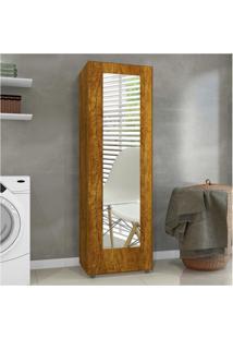 Sapateira Com Espelho 1 Porta 4 Prateleiras Atena Mavaular Mel