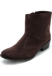 Bota Dafiti Shoes Lisa Marrom