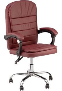 Cadeira Escritã³Rio Prisma Diretor - Vinho - Feminino - Dafiti