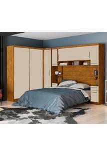 Dormitório De Casal Victória Robel S/ Espelho Nature Off White Robel Móveis - Tricae