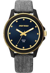 Relógio Analógico Mormaii Mo2035Hz-8P Feminino - Feminino-Cinza+Preto