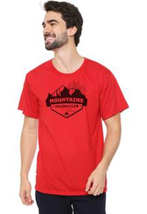 Camiseta Masculina Eco Canyon Mountains Vermelha